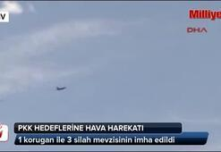 Kuzey Irak Metina bölgesindeki PKK hedeflerine hava harekatı