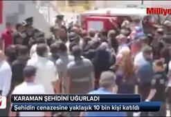 Karamanda Şehit Oğuzhan Küçükü 10 bin kişi uğurladı