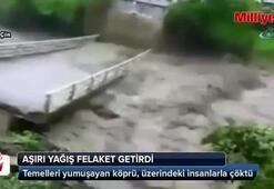Köprü çöktü: İnsanlar aşağı düştü