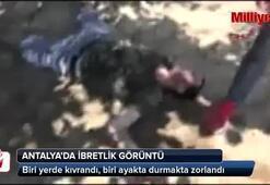 Antalyada ibretlik görüntüler