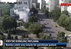 Kievde bomba yüklü araç patladı