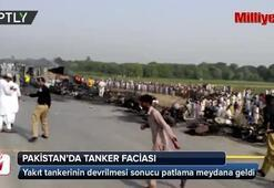 Pakistanda yakıt tankeri devrildi