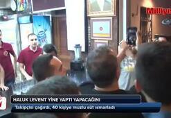 Takipçisi çağırdı, Haluk Levent gelip 40 kişiye muzlu süt ısmarladı