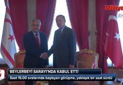 Cumhurbaşkanı Erdoğan KKTC Cumhurbaşkanı Mustafa Akıncı ile görüştü