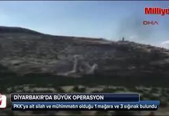 Diyarbakırdaki büyük operasyonda PKKnın mağarası bulundu