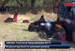59 göçmen Ege Denizi'ne açılamadan yakalandı