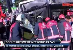 Söğütlüçeşmede metrobüs kazası