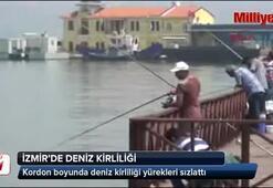 İzmirin gerdanlığına çöpler dizildi
