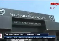 Marmara Üniversitesinde taciz protestosu