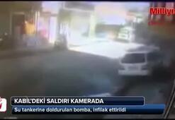 Kabil saldırısı güvenlik kamerası görüntüsü patlama anı