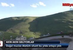 Doğal mucize Atatürk silueti bu yılda ortaya çıktı