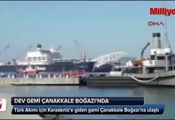 Türk Akımı için gelen dev gemi, Çanakkale Boğazında