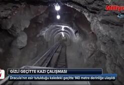 Draculanın esir tutulduğu kaledeki gizli geçitte 140 metre derinliğe ulaşıldı