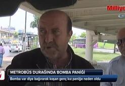 Sefaköy metrobüs durağında bomba paniği