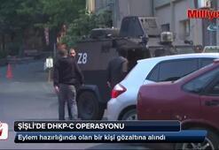 Şişlide terör örgütü DHKP-C'ye yönelik operasyon