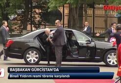 Başbakan Yıldırım, Gürcistanda resmi törenle karşılandı