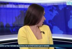 Rus spikerin zor anları