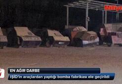 Örgütün bomba fabrikası ortaya çıktı