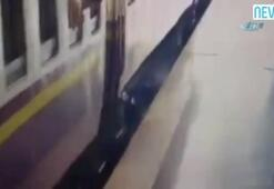 İnmek istediği trenin altında kaldı