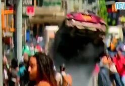 Times Meydanında dehşet saçan aracın çarpma görüntüleri