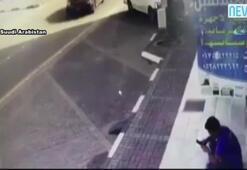 Cipin çarptığı adam dükkana girdi