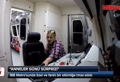 İstanbulda metroya binen annelere, Anneler Günü sürprizi yapıldı