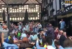 Celta Vigo taraftarı Manchesterı salladı