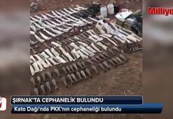 Kato Dağında PKKnın cephaneliği bulundu