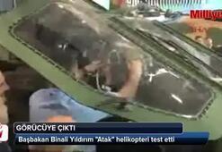 Başbakan Yıldırım Atak helikopteri test etti