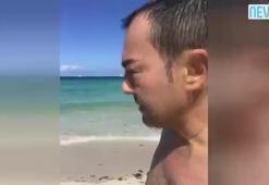 Serdar Ortaç Miamide donla denize girdi