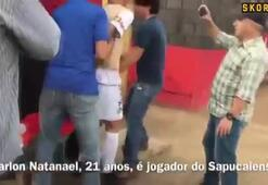 Maç oynanırken tutuklandı, ne olduğunu bile anlayamadı