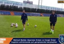 Başakşehirli futbolcuların şut yarışması | Mehmet Batdal, Alparslan Erdem, Cengiz Ünder