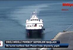 Dikili-Midilli arasında karşılıklı feribot seferleri başladı