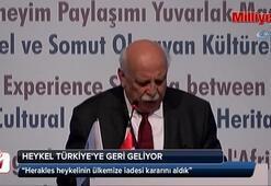 Herakles heykeli Türkiyeye getiriliyor