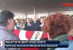 Şehit polis memurlarına Malatyada tören düzenlendi