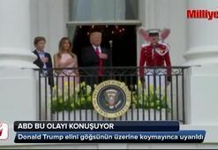 Trump First Lady'den dirsek yedi