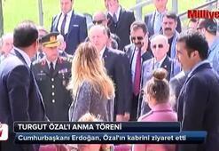 Cumhurbaşkanı Erdoğan, Özalın kabrini ziyaret etti