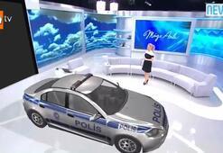 Stüdyoya polis arabası girdi