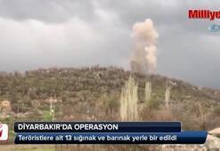 Teröristlere ait 13 sığınak ve barınak yerle bir edildi