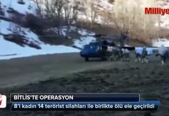 Bitlis'te 14 terörist öldürüldü