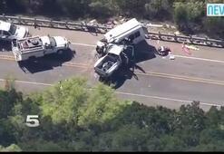 Kilise otobüsü kamyonetle çarpıştı: 12 ölü