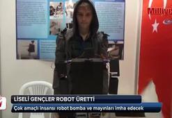 Liseli gençler çok amaçlı insansı robot üretti