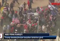 Trump destekçileriyle karşıtları birbirine girdi