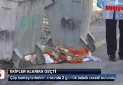 Çöp konteynerlerinin arasında bebek cesedi bulundu