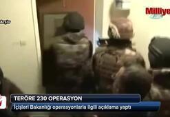 Teröre 230 operasyon: 24 terörist etkisiz hale getirildi