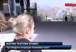 Aleyna Tilki'den Emrah Karaduman'a ziyaret
