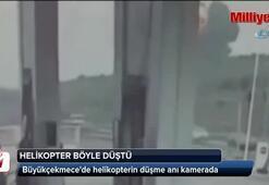 Helikopterin düşme anı kamerada