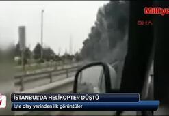 İstanbulda helikopter düştü
