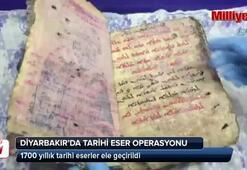Diyarbakır'da 1700 yıllık tarihi eserler ele geçirildi