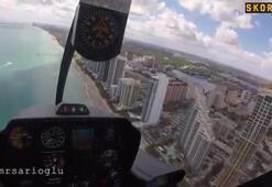 Yenge bu kez Miami semalarında uçtu